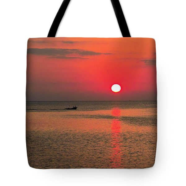 Okinawa Sunset Tote Bag
