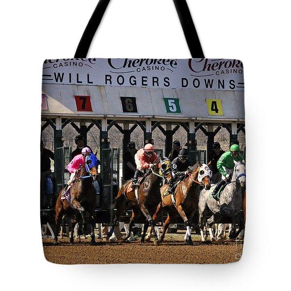 Oklahoma Horse Racing Tote Bag