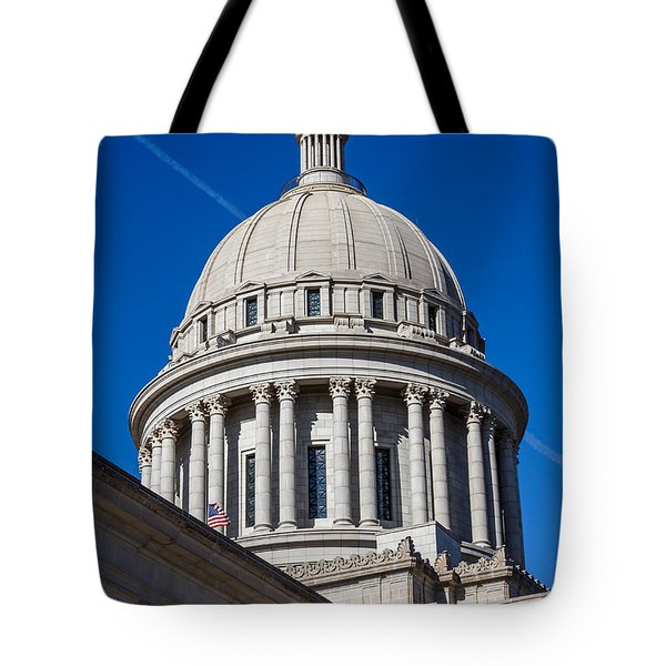 Oklahoma State Capitol Dome Tote Bag by Doug Long