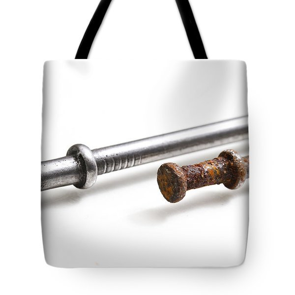 Old & New Nails Tote Bag by Photo Researchers, Inc.