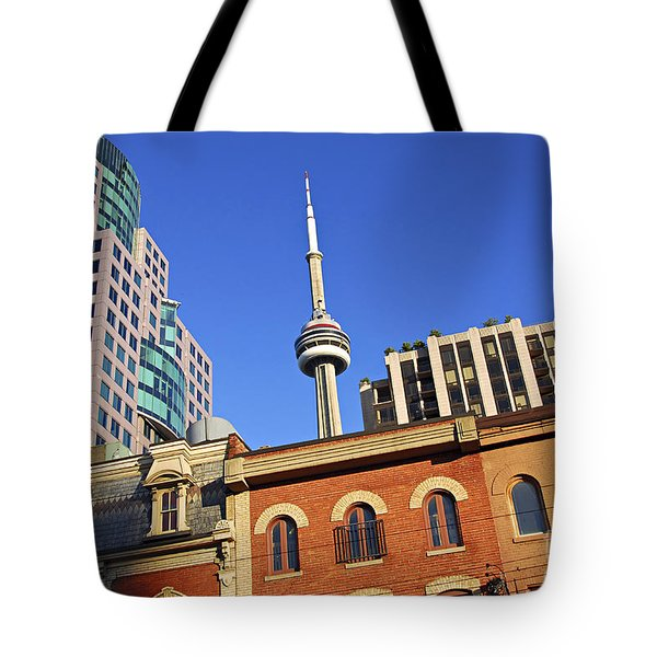Old And New Toronto Tote Bag by Elena Elisseeva