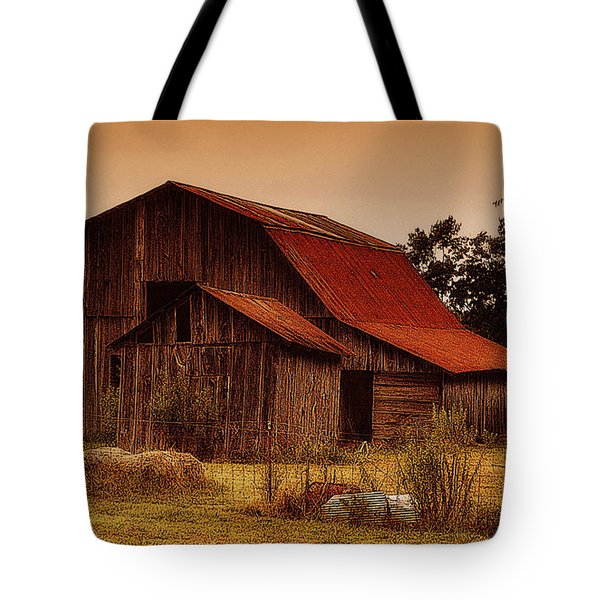 Tote Bag featuring the photograph Old Barn by Lydia Holly