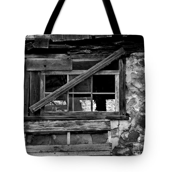 Old Barn Window Tote Bag by Perry Webster