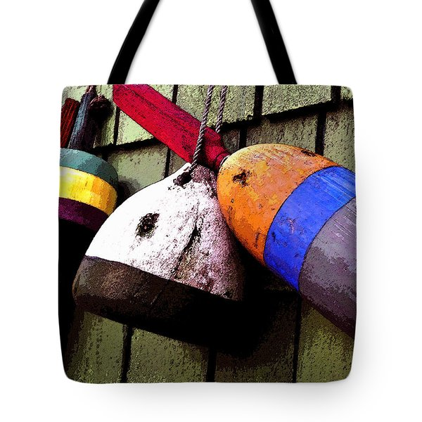 Old Bouys Tote Bag by David Lee Thompson