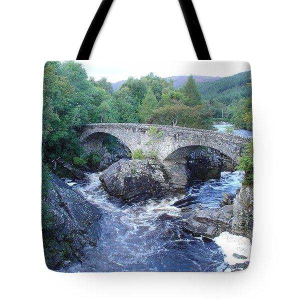 Old Bridge At Invermoriston Tote Bag