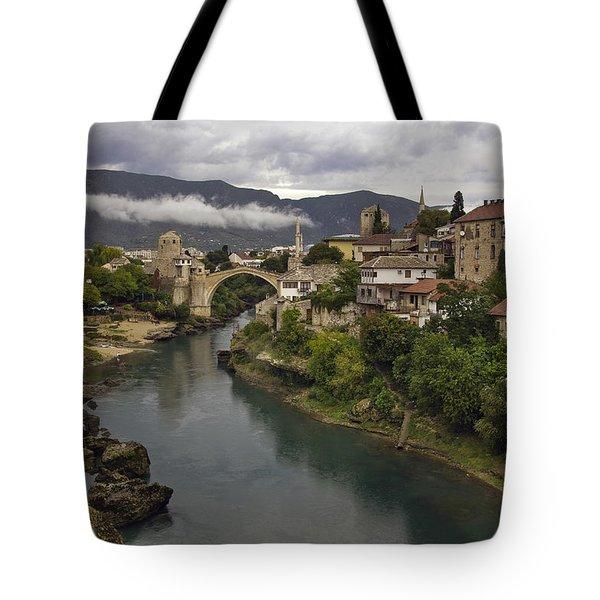 Old Bridge Of Mostar Tote Bag by Ayhan Altun