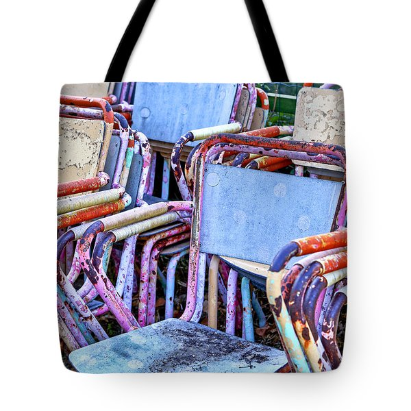 Old Chairs Tote Bag by Joana Kruse