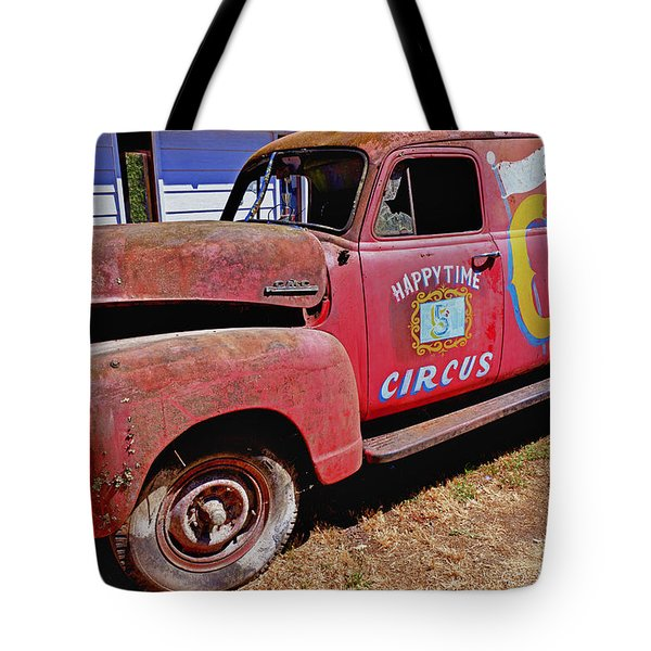 Old Circus Truck Tote Bag by Garry Gay