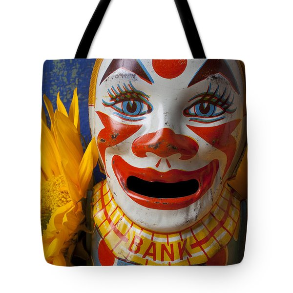 Old Clown Bank Tote Bag by Garry Gay