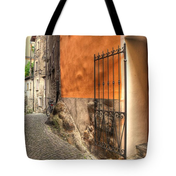 Old Colorful Rustic Alley Tote Bag