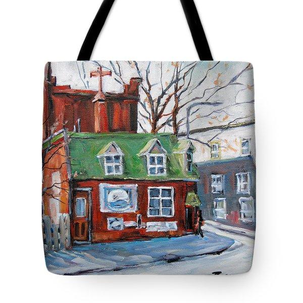 Old Corner Store Montreal By Prankearts Tote Bag by Richard T Pranke