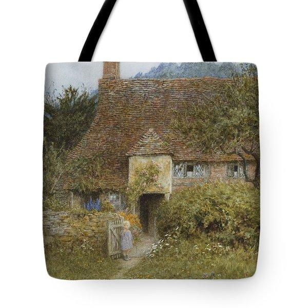 Old Cottage Witley Tote Bag by Helen Allingham