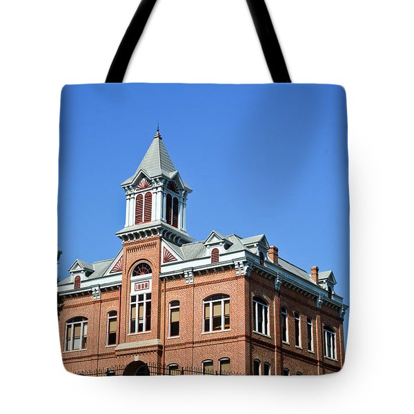 Old Courthouse Powhatan Arkansas 1 Tote Bag by Douglas Barnett