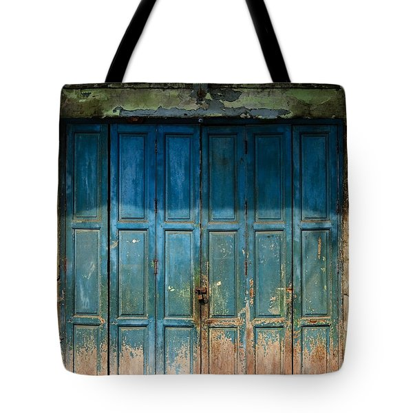 old door in China town Tote Bag by Setsiri Silapasuwanchai