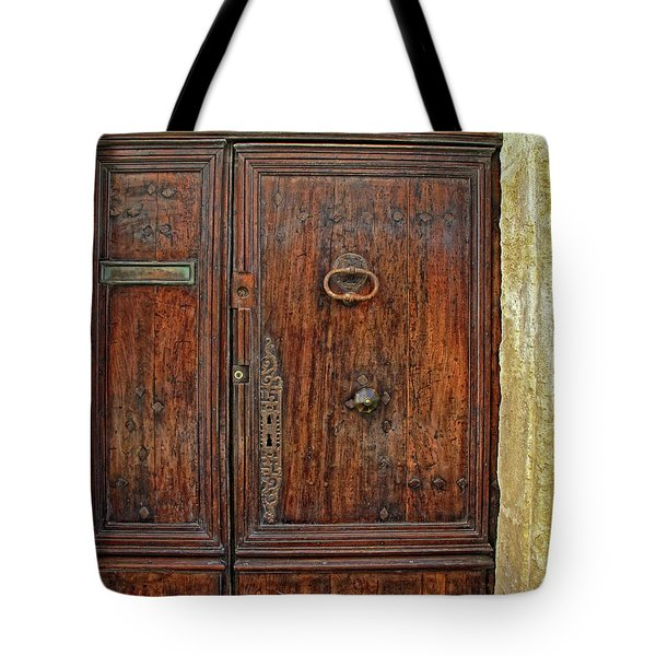 Tote Bag featuring the photograph Old Door Study Provence France by Dave Mills