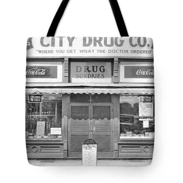 Old Drug Store Circa 1930 Tote Bag