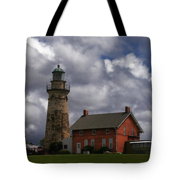 Old Fairport Harbor Light Tote Bag