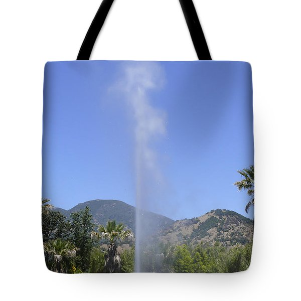 Old Faithful Geyser Tote Bag by Mike McGlothlen