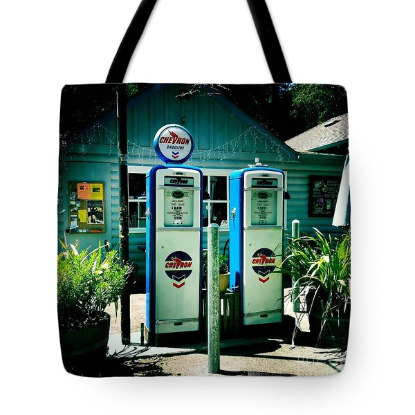 Old Fashioned Gas Station Tote Bag