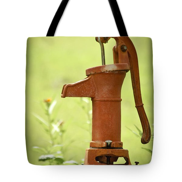 Old Fashioned Water Pump Tote Bag