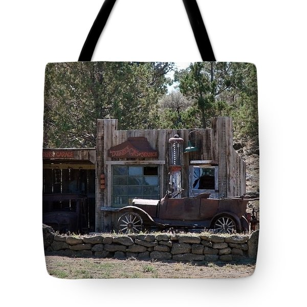 Tote Bag featuring the photograph Old Filling Station by Athena Mckinzie