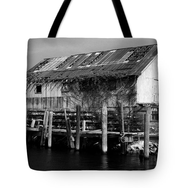 Old Fishing Wharf Tote Bag by Karen Harrison