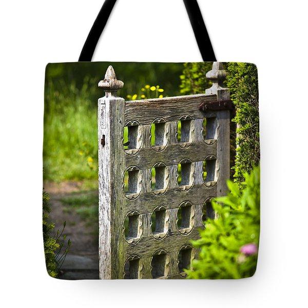 Old Garden Entrance Tote Bag by Heiko Koehrer-Wagner