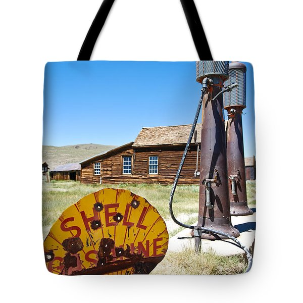 Old Gas Pumps Tote Bag