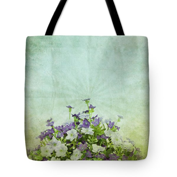 Old Grunge Paper Flowers Pattern Tote Bag by Setsiri Silapasuwanchai