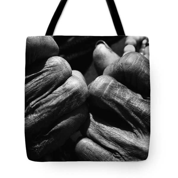 Old Hands 2 Tote Bag by Skip Nall