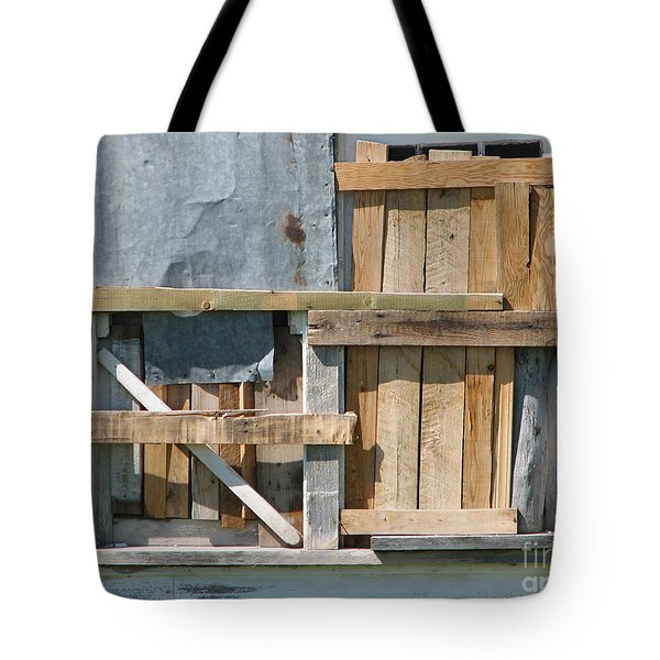 Old House In Ruins Wth Window Boarded - Grunge Tote Bag