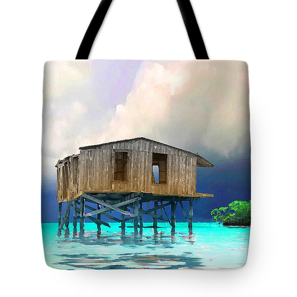 Old House Near The Storm Filtered Tote Bag