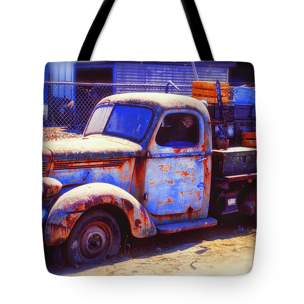 Old Junk Truck Tote Bag by Garry Gay