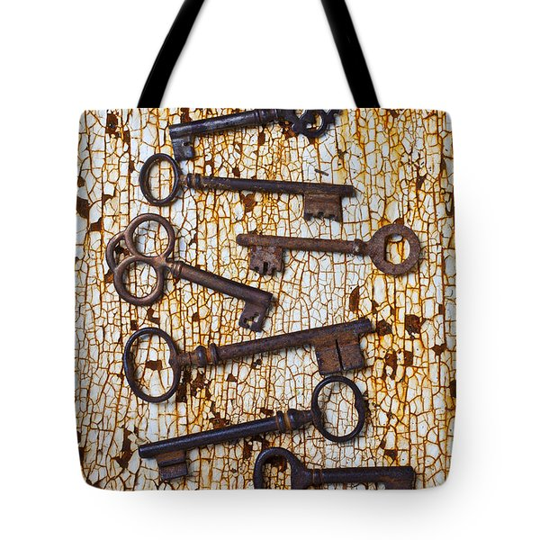 Old Keys Tote Bag by Garry Gay