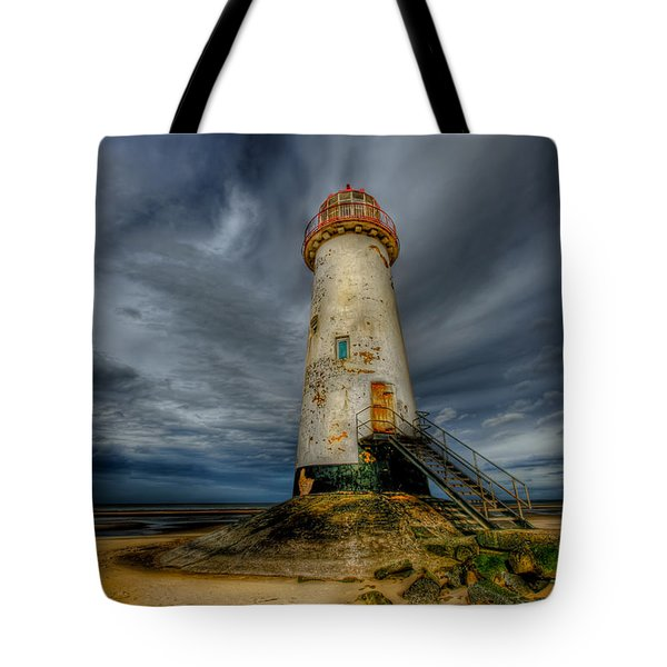 Old Lighthouse Tote Bag by Adrian Evans