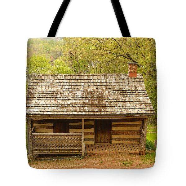 Old Log Cabin Tote Bag