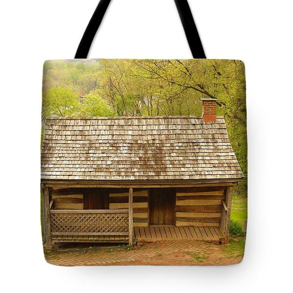 Old Log Cabin Tote Bag by J Jaiam
