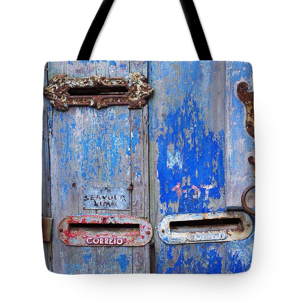 Old Mailboxes Tote Bag by Carlos Caetano