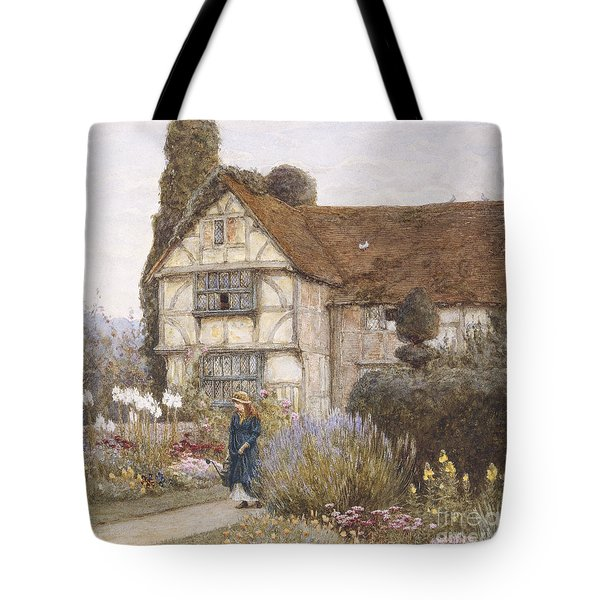Old Manor House Tote Bag by Helen Allingham