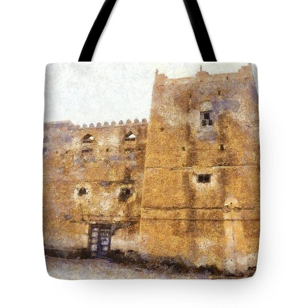 Old Mansion In Mirbat Tote Bag