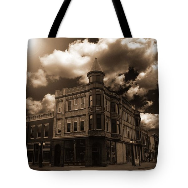 Old Menominee Corner Store Building Tote Bag