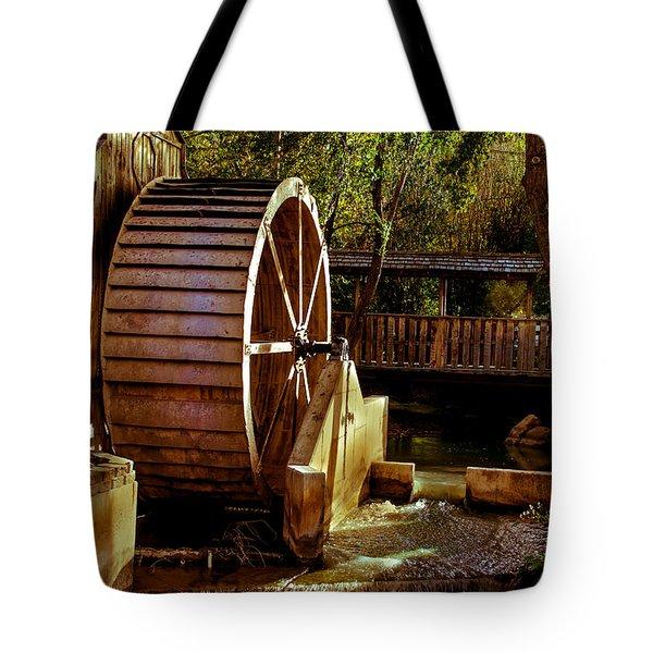 Old Mill Park Wheel Tote Bag by Robert Bales