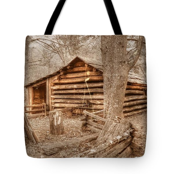 Old Mill Work Cabin Tote Bag by Dan Stone