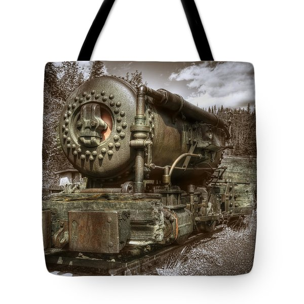 Old Mine Train Banff Tote Bag by Diane Dugas