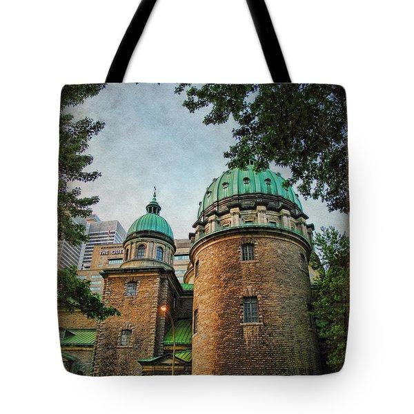 Old Montreal Church Tote Bag by Joan  Minchak