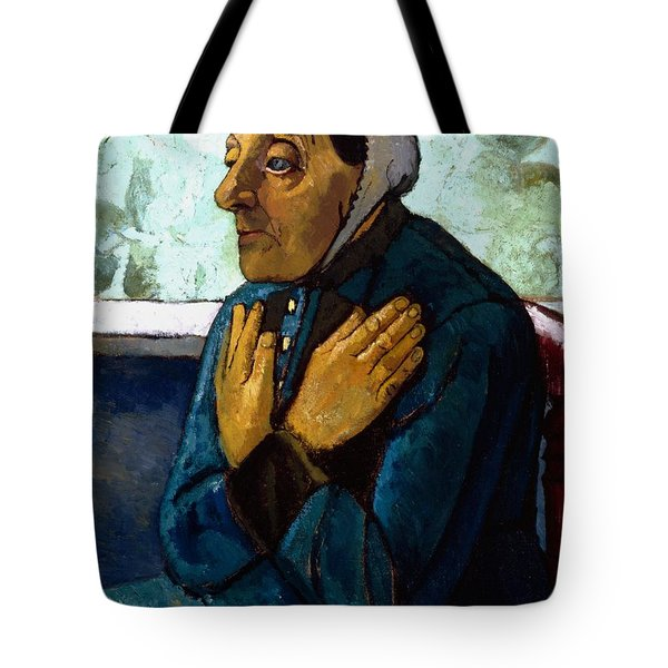 Old Peasant Woman Tote Bag by Paula Modersohn-Becker
