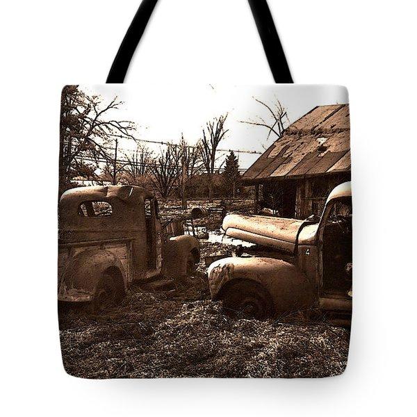 'old Pickup Trucks' Tote Bag by Michael Lang