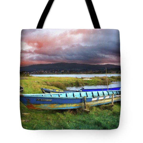 Old Row Boats Tote Bag by Carlos Caetano