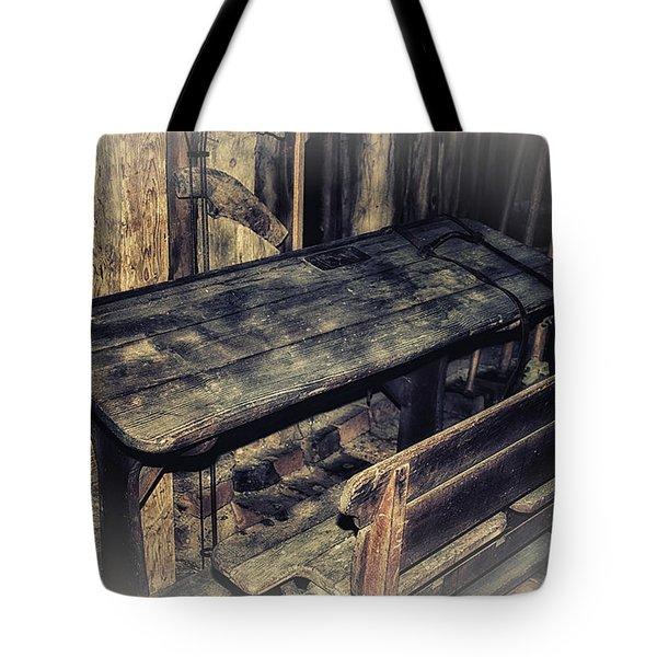 Old School Desk Tote Bag by Jutta Maria Pusl