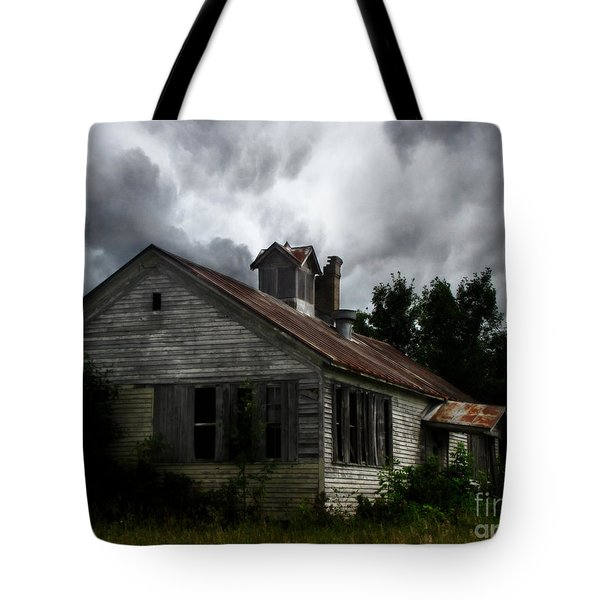 Old School House Tote Bag by Ms Judi